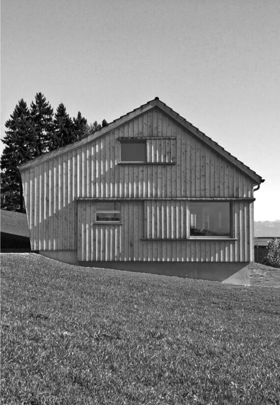 Appenzellerhaus im Streusiedlungsgebiet – Ersatzbau für Stallscheune mit Wohnnutzung