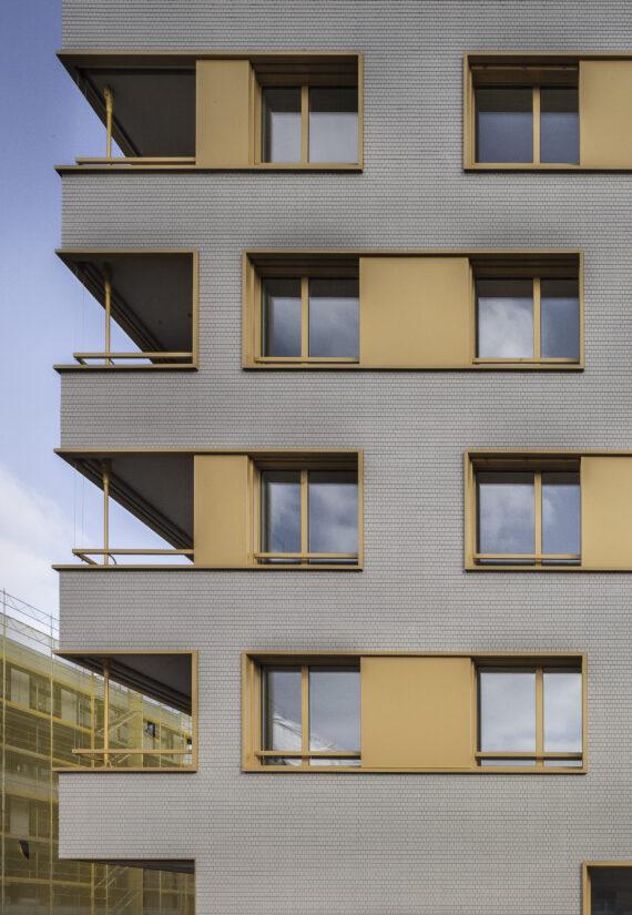 Immeubles de logements sociaux dans l'écoquartier des Vergers