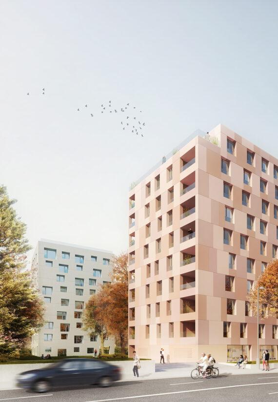 Rieu – Malagnou – Ensemble de deux immeubles de logement avec parking souterrain